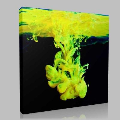 Abstract  Suda  Renk Karışımı Kanvas Tablo