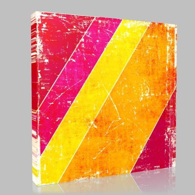 Acute Angle Red PInk Yellow Kanvas Tablo