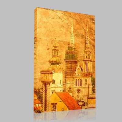 Zagreb Hırvatistan Kanvas Tablo