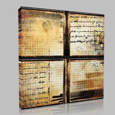 Antika Efektli Pencere Kanvas Tablo