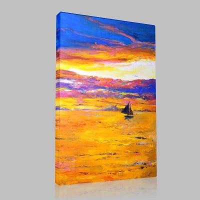 Sunset Sailboat Kanvas Tablo