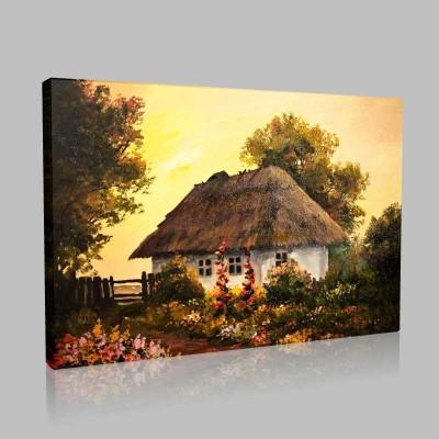 House InThe Village Kanvas Tablo