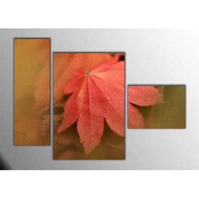 Çınar Yaprağı Parçalı Tablo 120X85Cm