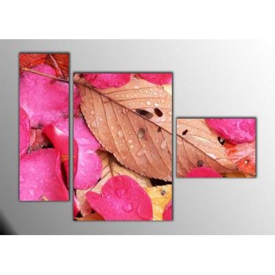 Gül Yaprakları Parçalı Tablo 120X85Cm