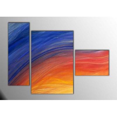 Soğuk Alev Parçalı Tablo 120X85Cm