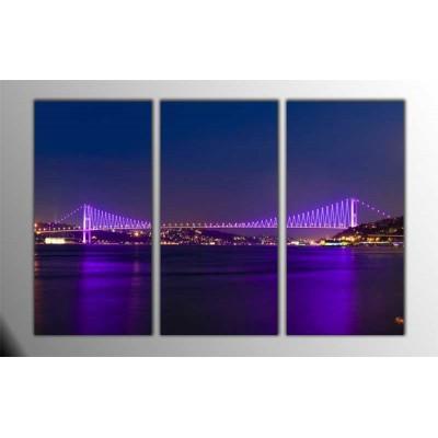Boğaziçi Köprüsü İstanbul Parçalı Tablo 120X80Cm