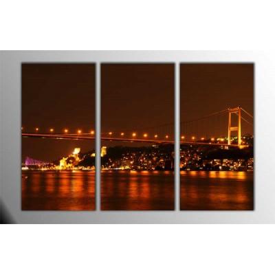 Boğaziçi İstanbul Parçalı Tablo 120X80Cm