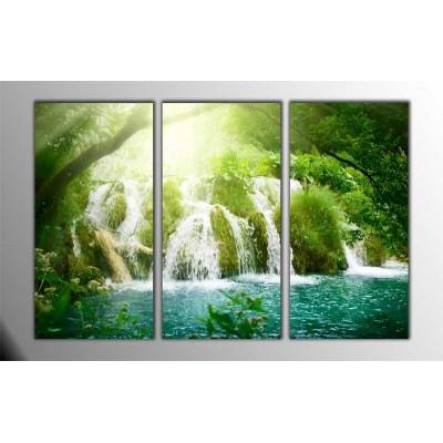 High Waterfall Parçalı Tablo 120X80Cm