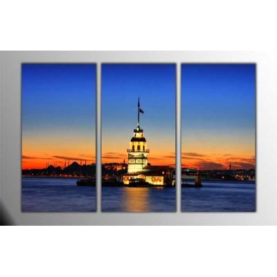 Kız Kulesi Parçalı Tablo 120X80Cm