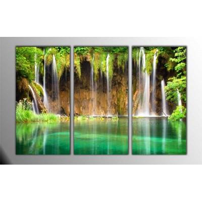 Waterfall Wisdom Parçalı Tablo 120X80Cm