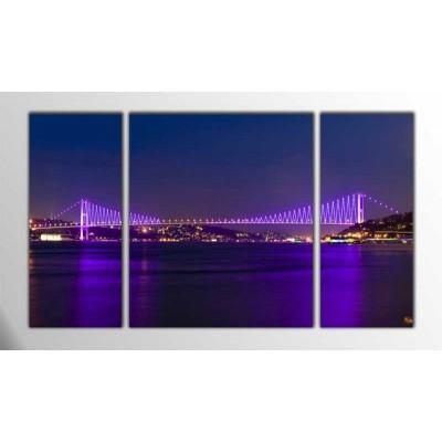 Boğaziçi Köprüsü İstanbul Parçalı Tablo 120X70Cm
