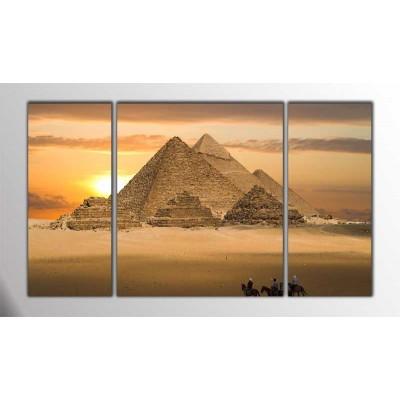 Mısır Pyramitleri Parçalı Tablo 120X70Cm