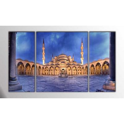 Sultan Ahmed Camii İstanbul Parçalı Tablo 120X70Cm