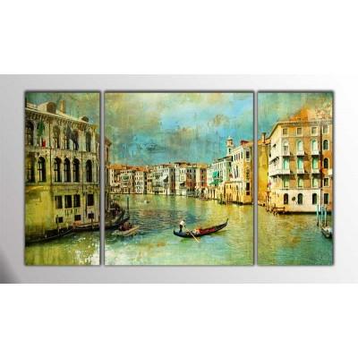 Venedik İtalya Parçalı Tablo 120X70Cm