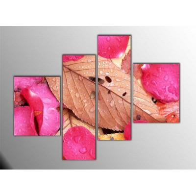 Gül Yaprakları Parçalı Tablo 120X95Cm