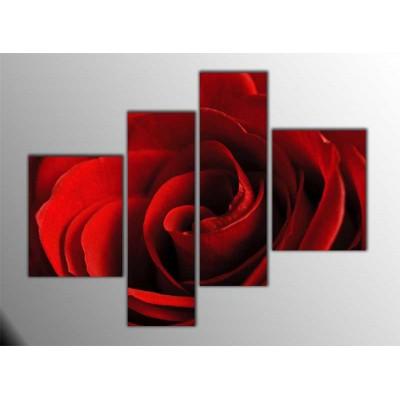Kırmızı Gül Parçalı Tablo 120X95Cm