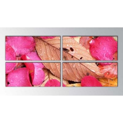 Gül Yaprakları Parçalı Tablo 160X70Cm