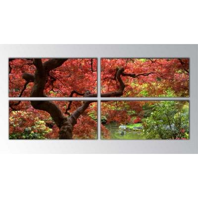 Japon Akça Ağacı Parçalı Tablo 160X70Cm