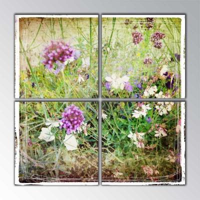 Çayır Çiçekleri Parçalı Tablo 100 X100Cm