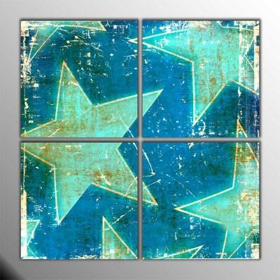 Glazing Stars Parçalı Tablo 100 X100Cm