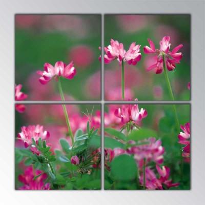 Pembe Çiçek Parçalı Tablo 100 X100Cm