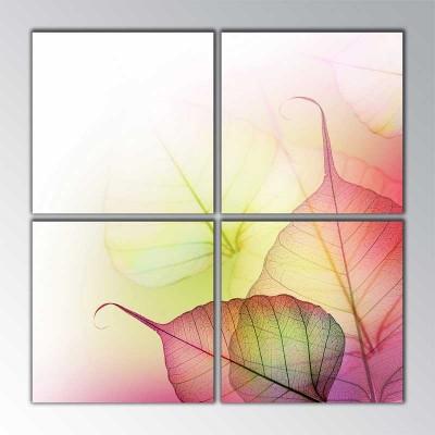 Yapraklar Parçalı Tablo 100 X100Cm