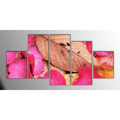 Gül Yaprakları Parçalı Tablo 150X75Cm