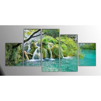 Hırvatistan Milli Park Parçalı Tablo 150X75Cm