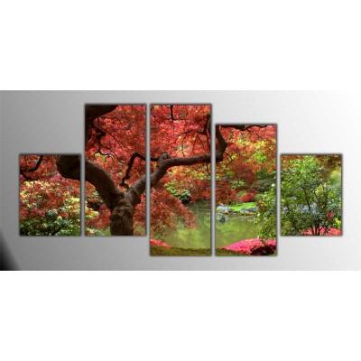 Japon Akça Ağacı Parçalı Tablo 150X75Cm