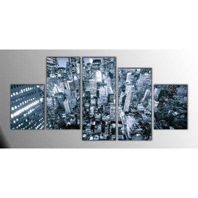 Newyorkcity Amerika Parçalı Tablo 150X75Cm