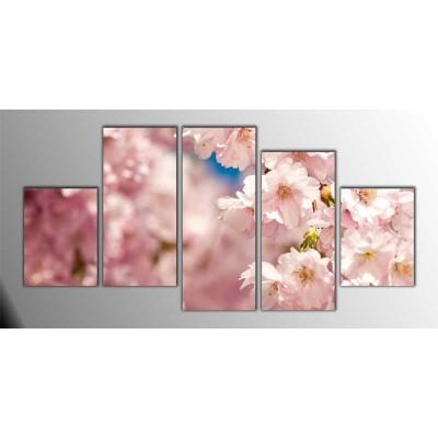 Sakura Parçalı Tablo 150X75Cm