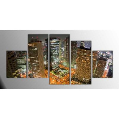 Tokyo Japonya Parçalı Tablo 150X75Cm