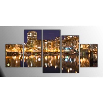 Vancouver Panoroma Parçalı Tablo 150X75Cm