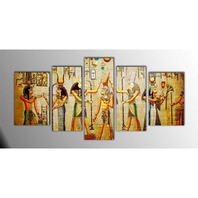 Antik Mısır Papirus Parçalı Tablo 135X75Cm