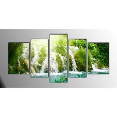 High Waterfall Parçalı Tablo 135X75Cm