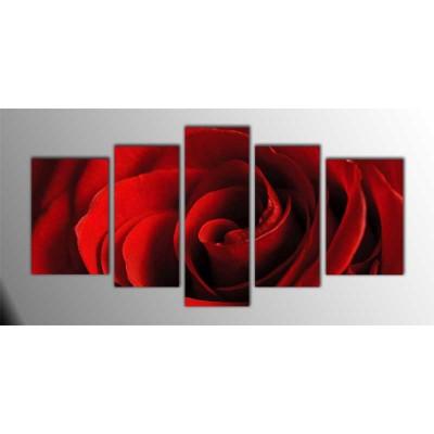 Kırmızı Gül Parçalı Tablo 135X75Cm
