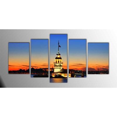 Kız Kulesi Parçalı Tablo 135X75Cm