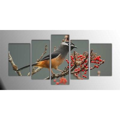 Kuş Üzümü Parçalı Tablo 135X75Cm