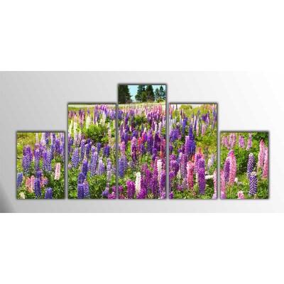 Çiçek Bahçesi Parçalı Tablo 125X60Cm