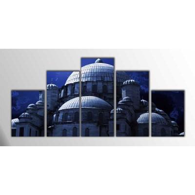 Eminönü Camii İstanbul Parçalı Tablo 125X60Cm