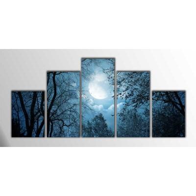 Moonlight Parçalı Tablo125X60Cm