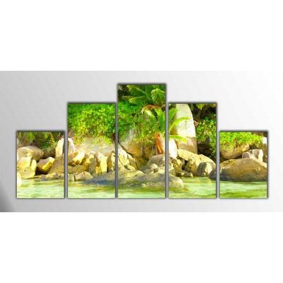 Seascape Parçalı Tablo 125X60Cm