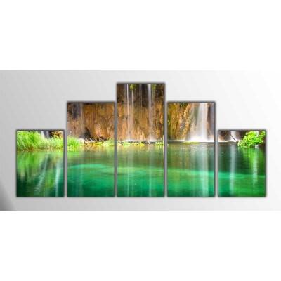 Waterfall Parçalı Tablo 125X60Cm